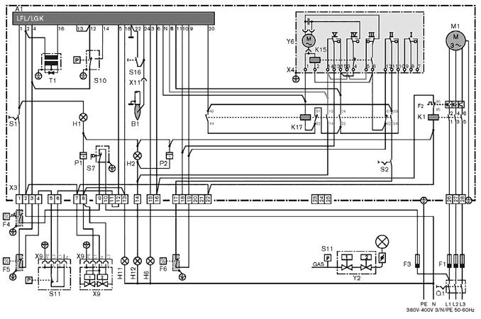 Электрическая схема газовых